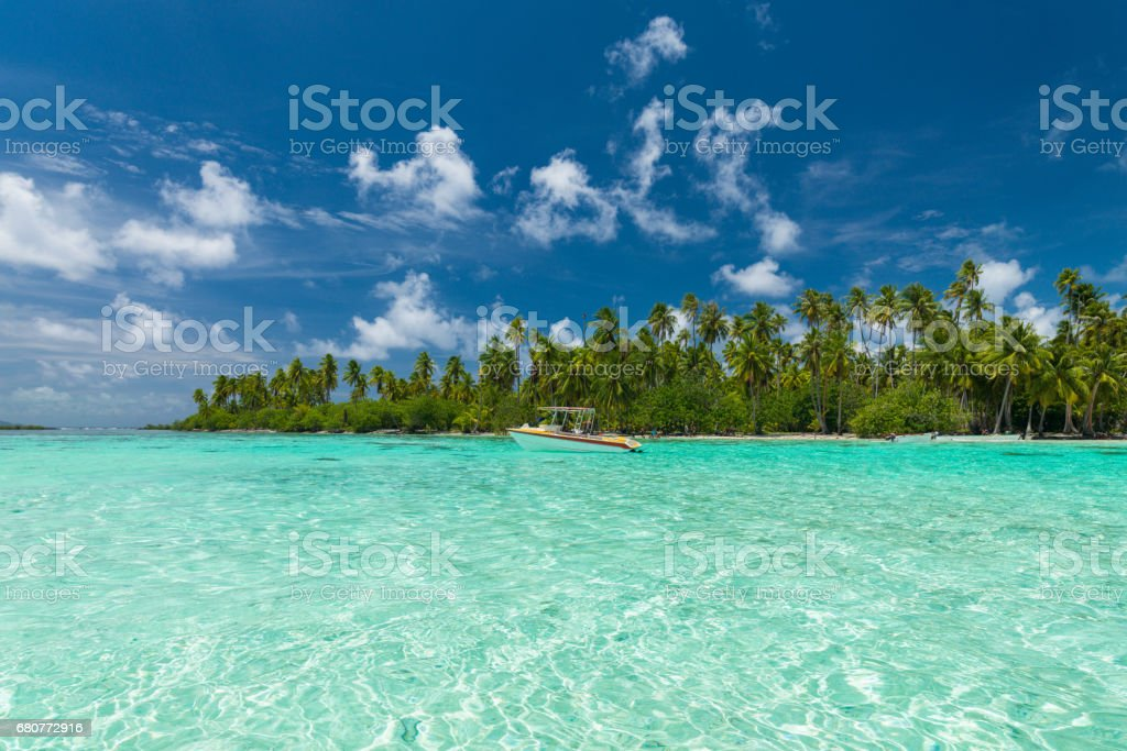 Tahaa Island Lagoon Taha'a French Polynesia stock photo