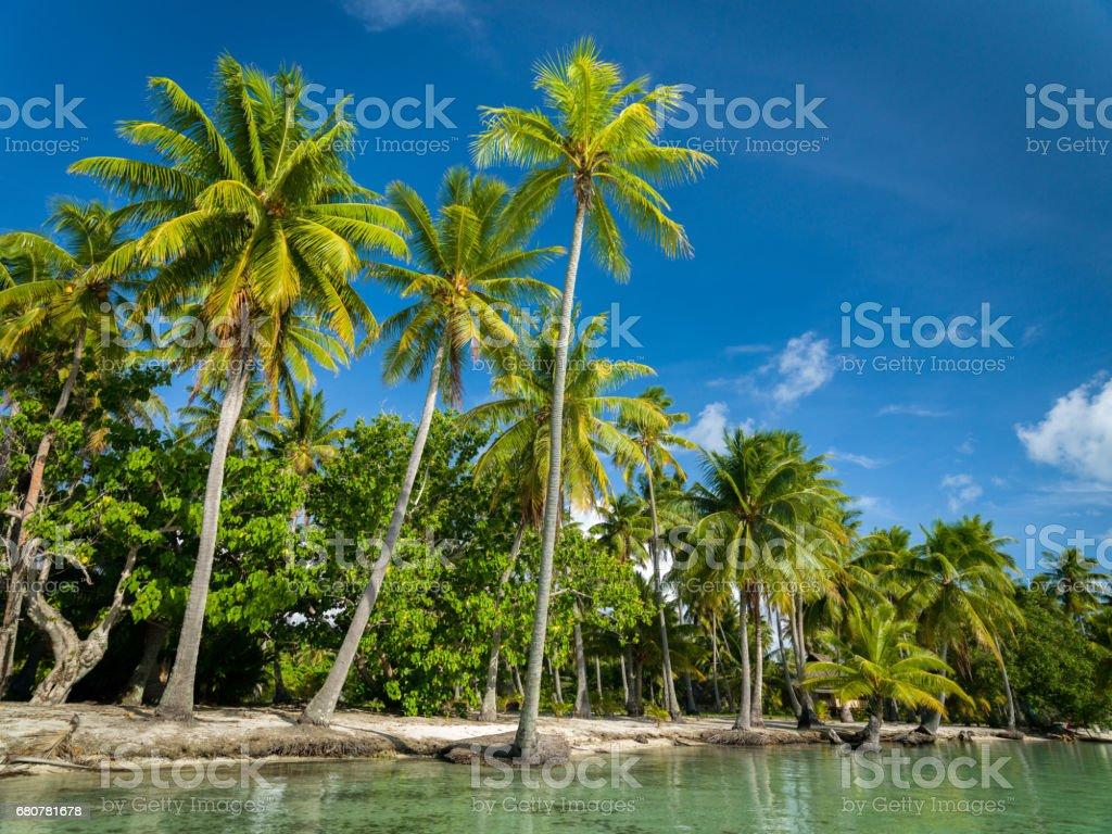 Tahaa Motu Natural Islet Beach Taha'a French Polynesia stock photo