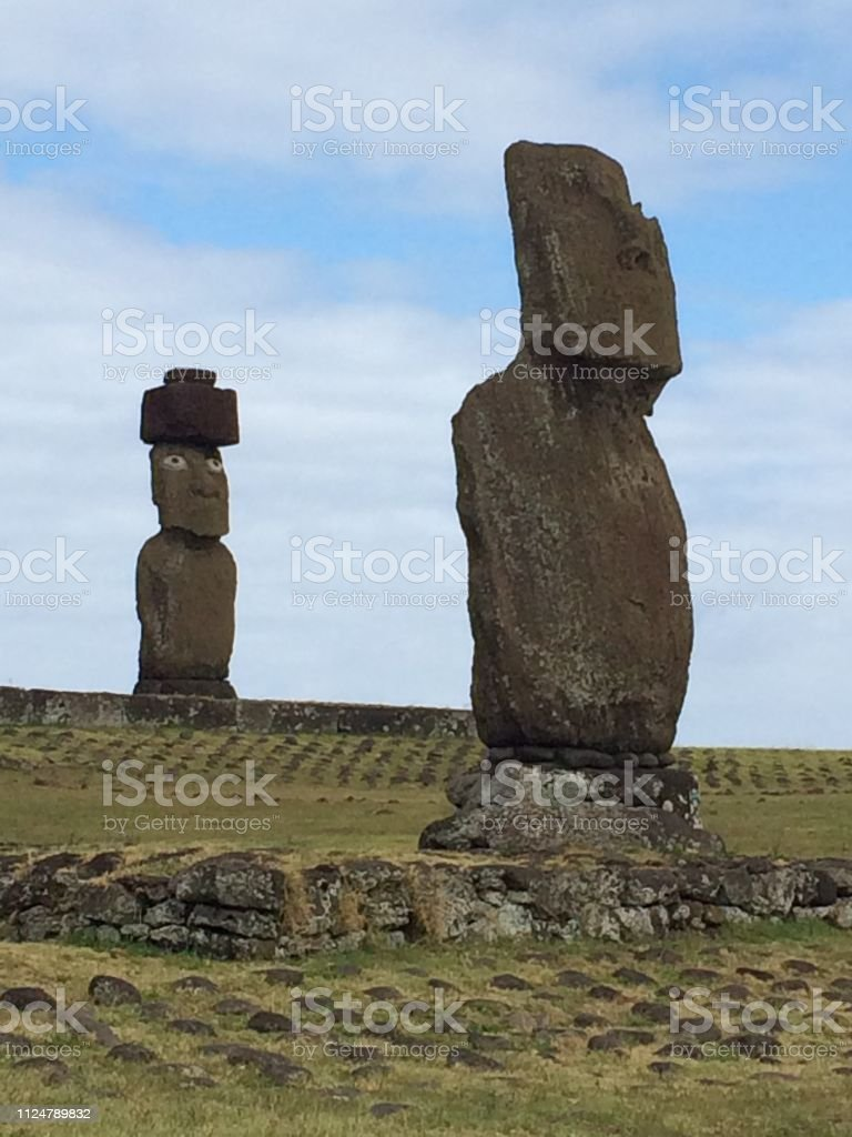 Tahai, Easter Island stock photo