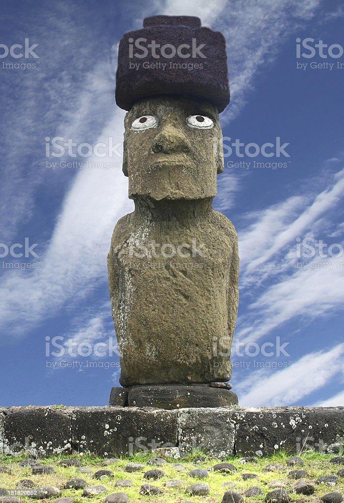 Tahai Moai, Easter Island royalty-free stock photo