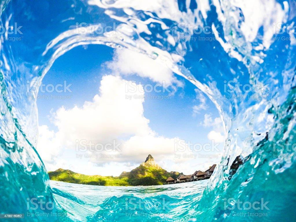 Tahiti Bora Bora stock photo