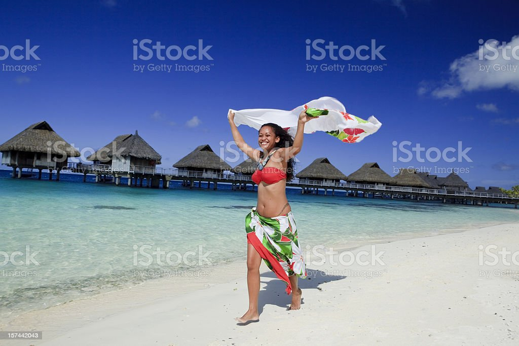 Tahiti - dancer royalty-free stock photo