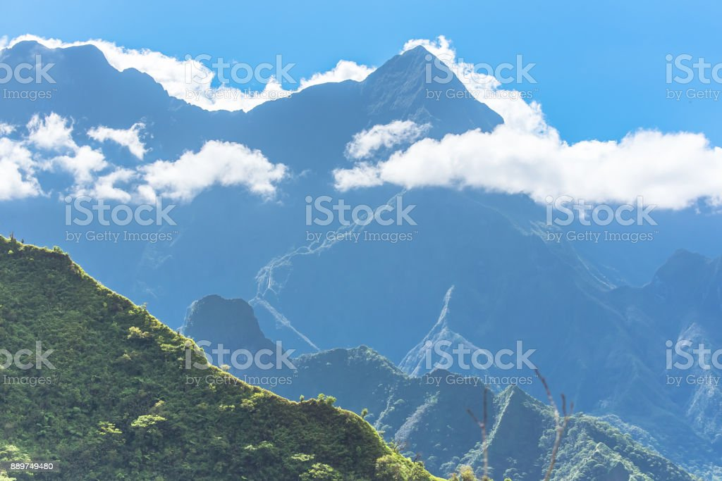 Tahiti in French Polynesia, Papenoo valley stock photo