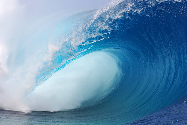 tahiti wave - wave stock photos and pictures