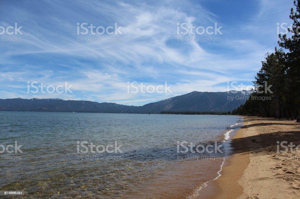 Tahoe Beach stock photo