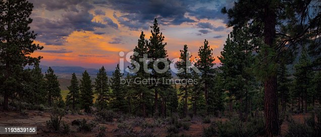 A Vibrant Sunset off the beautiful Carson Valley just south of Lake Tahoe.
