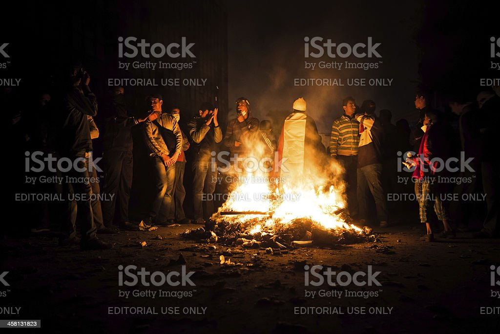 Tahrir Gathering stock photo