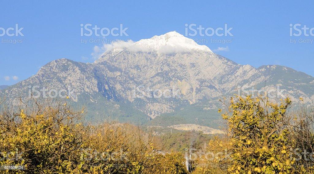 Tahtali montagna in Turchia foto stock royalty-free