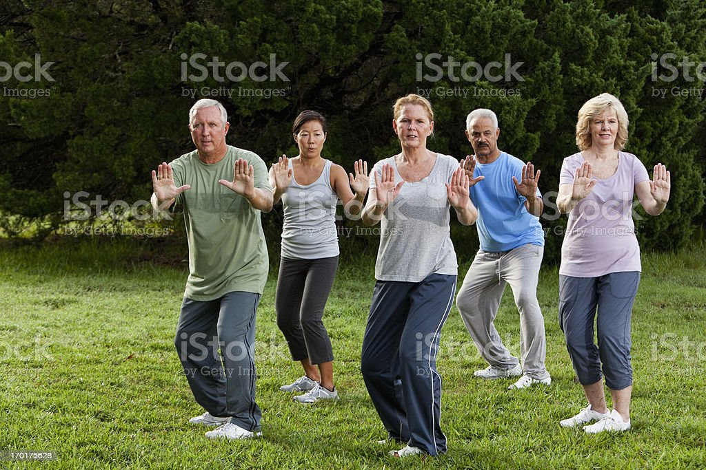 Tai Chi Class Stock Photo - Download Image Now - iStock