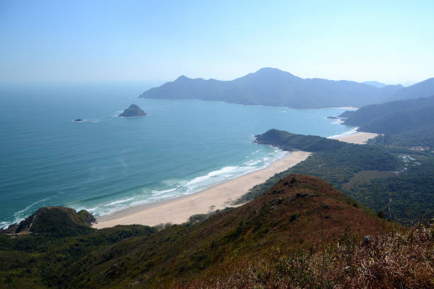 Tai Long Wan bay panorama, Sai Kung East Country Park, Hong Kong stock photo
