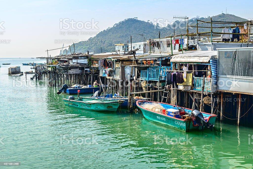 Tai O Fishing Town stock photo
