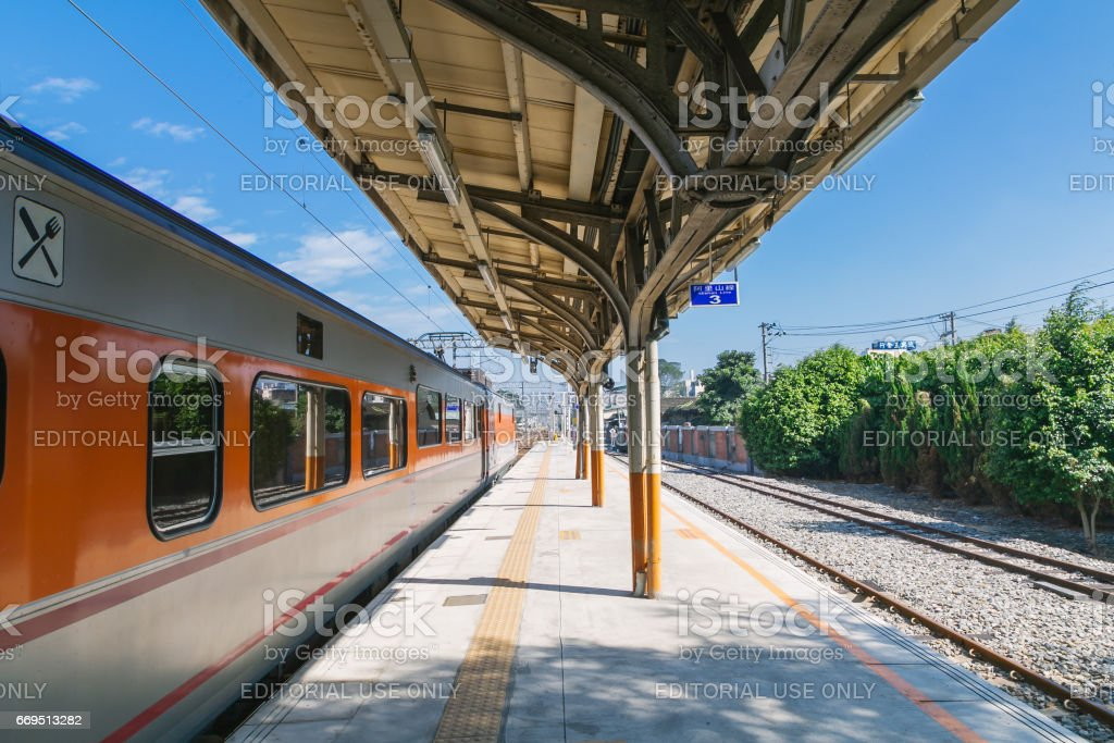 Taichung Station, a railway station from taichung to Alishan stock photo