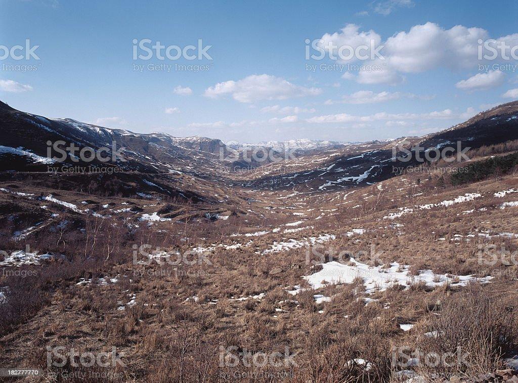 taihang mountain in winter stock photo