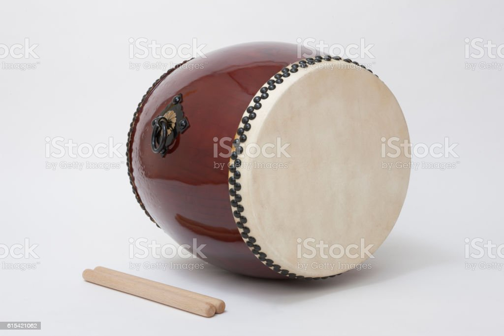 Taiko drum stock photo