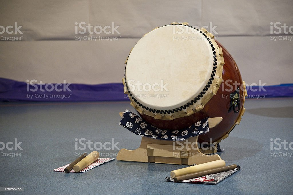 Taiko Drum Waiting to be Played stock photo