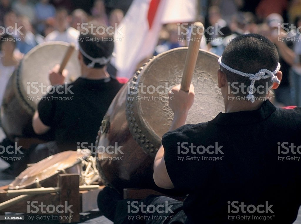 Taiko Drummers stock photo