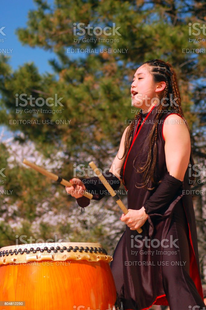 Taiko Drumming stock photo