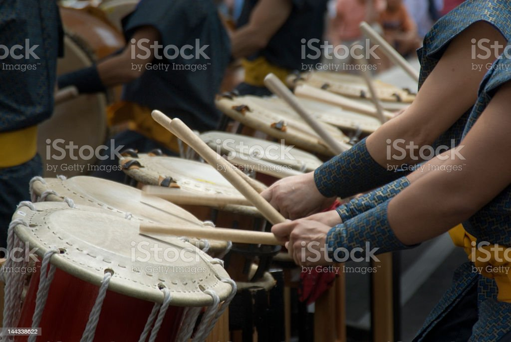 Taiko drums stock photo
