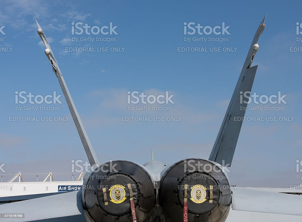 Tail End Of The Fighter stock photo