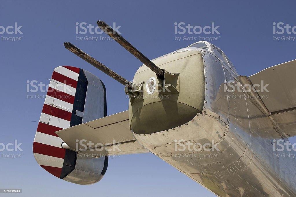 B-25 Tail Guns royalty-free stock photo