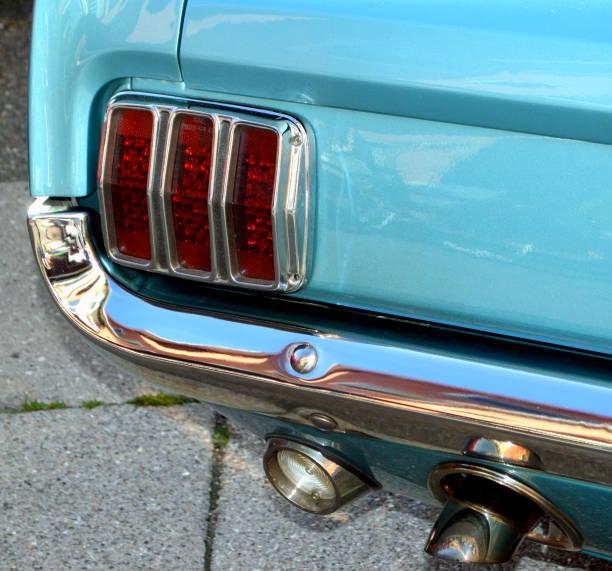 Tail light of American veteran car stock photo