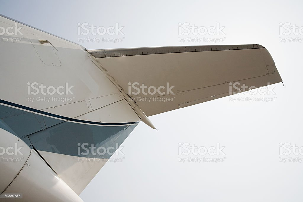 Tail of a private airplane royalty-free stock photo