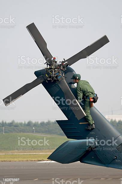 Tail Rotor Inspection Stock Photo - Download Image Now