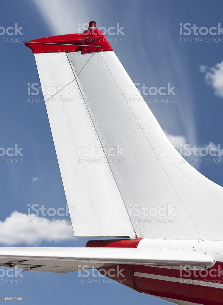 Tail view of airplane stock photo