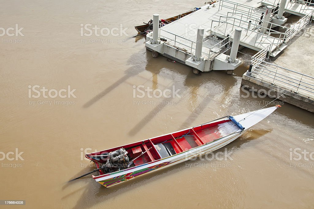Tailed boat royalty-free stock photo