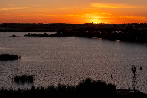 Tailem Bend Sunset stock photo