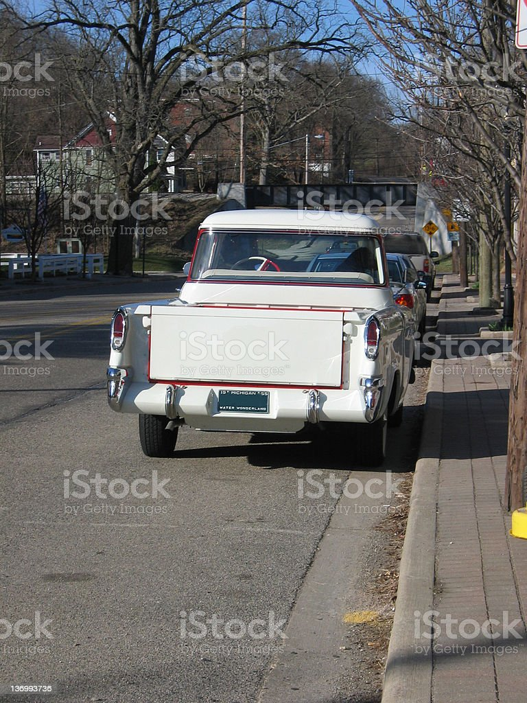 Tailgate on an old Chevy royalty-free stock photo