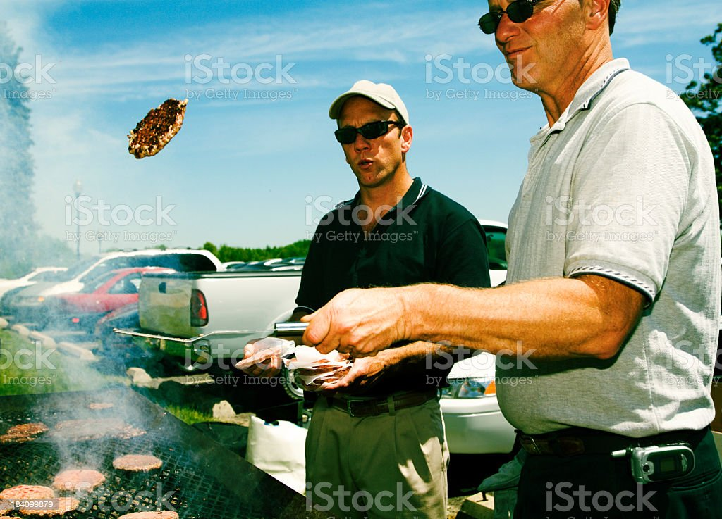 tailgate toss royalty-free stock photo