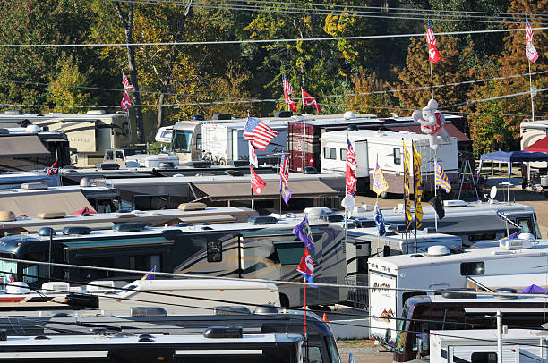RV Tailgaters stock photo