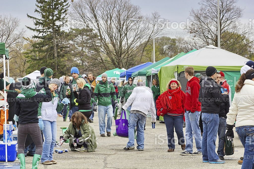 Tailgating Before the MSU vs Nebraska College Football Game royalty-free stock photo
