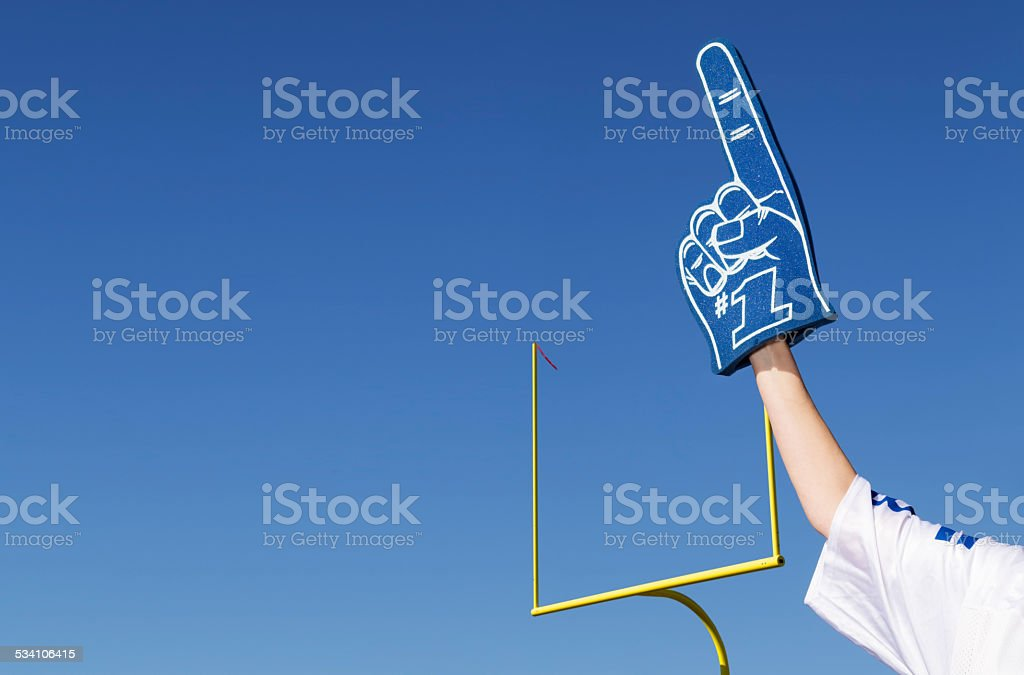Tailgating Football Fan stock photo