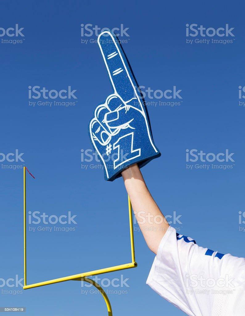 Tailgating Football Fan stock photo
