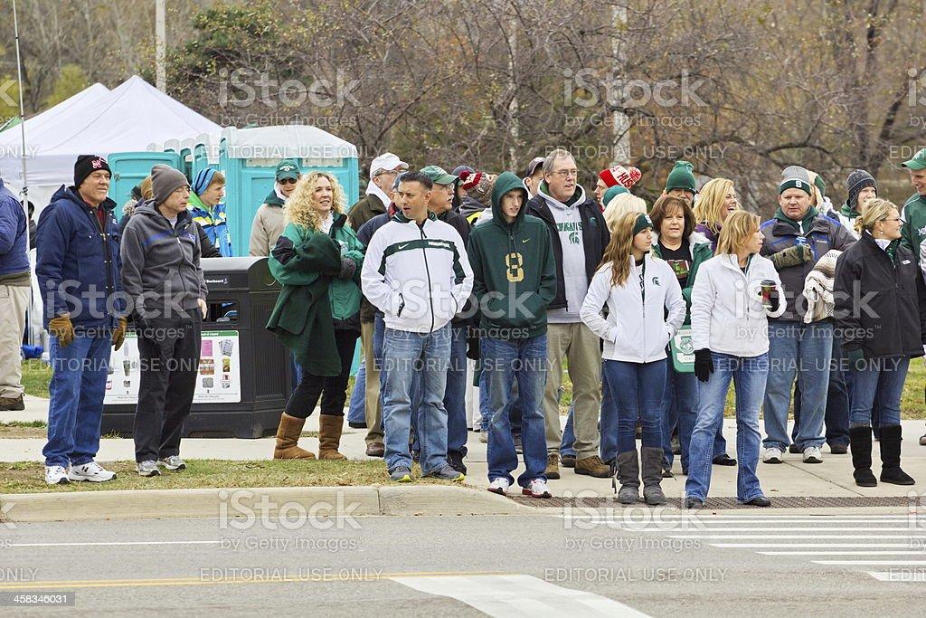 Tailgator's Head to MSU vs Nebraska College Football Game stock photo