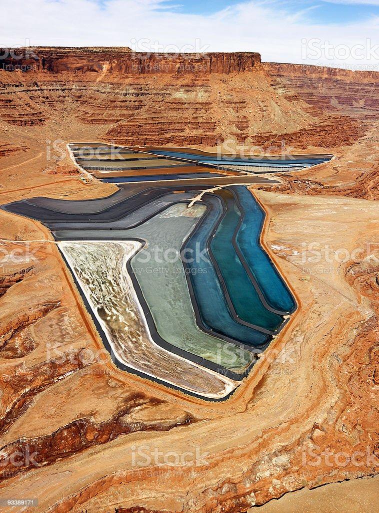Tailings pond in rural Utah. royalty-free stock photo