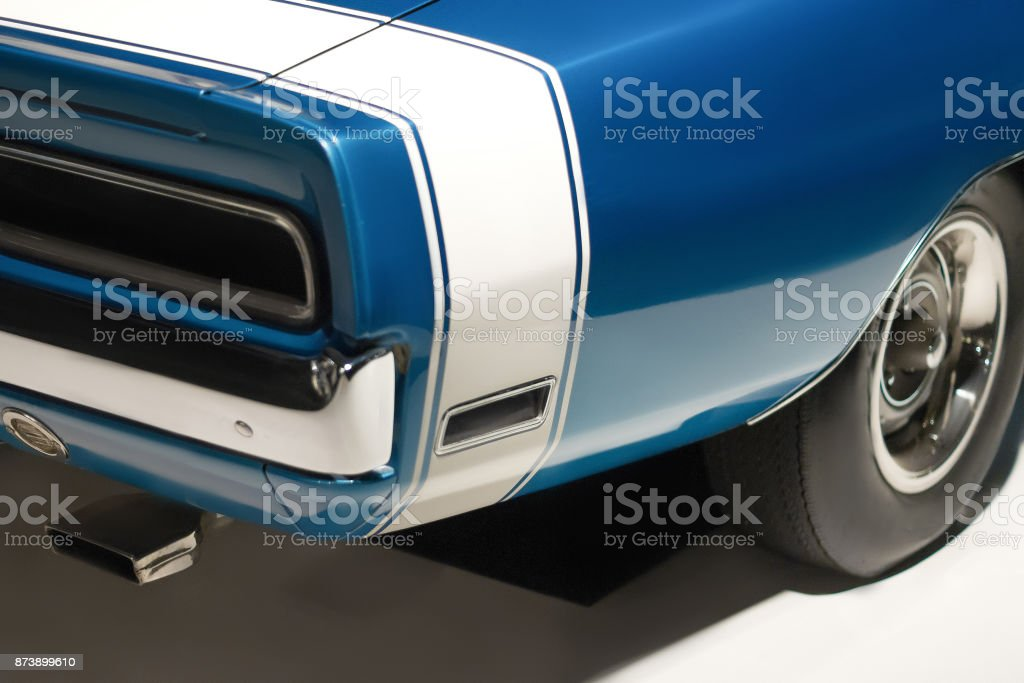Taillight and part of bumper. Vintage car stock photo
