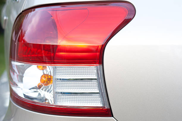 Taillight at the car stock photo
