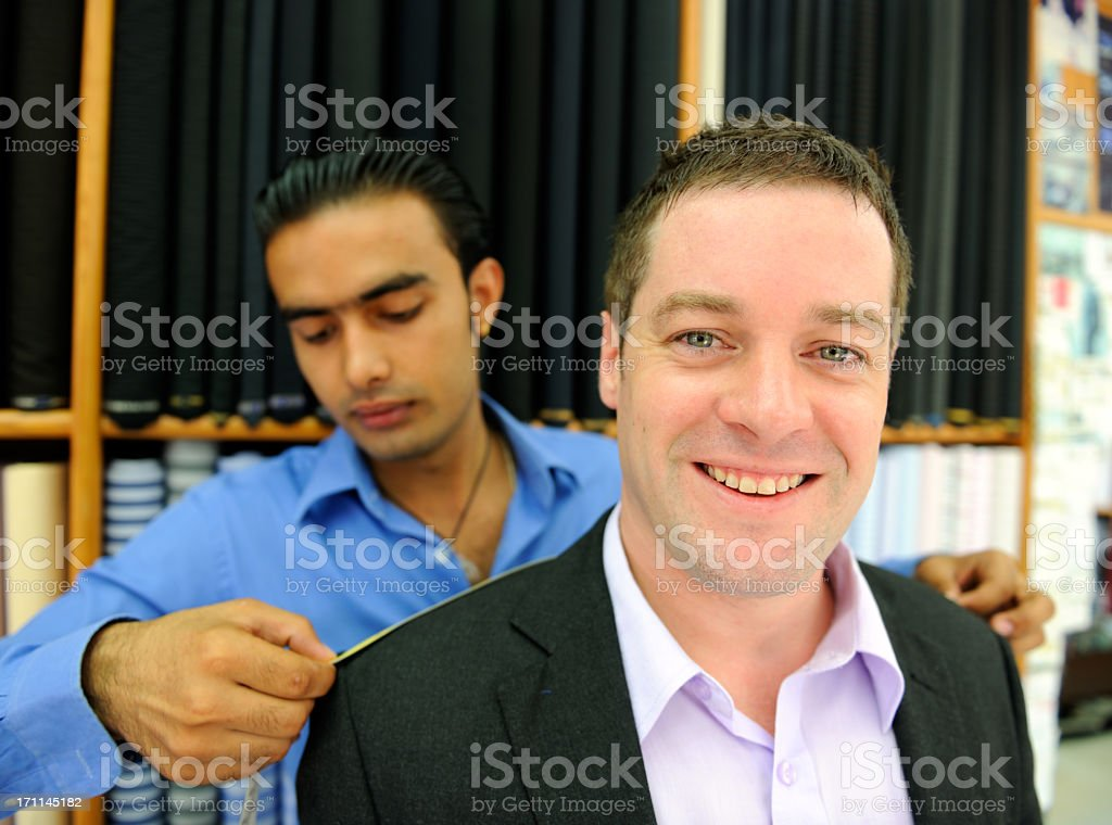 Tailor and Customer royalty-free stock photo