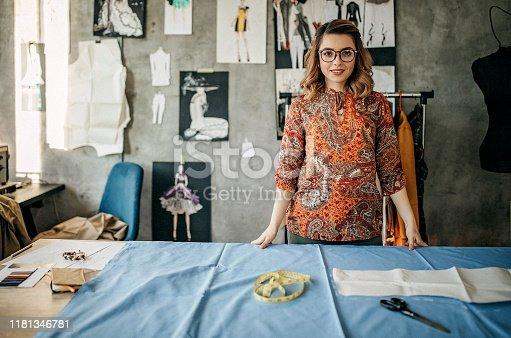 Tailor in her studio