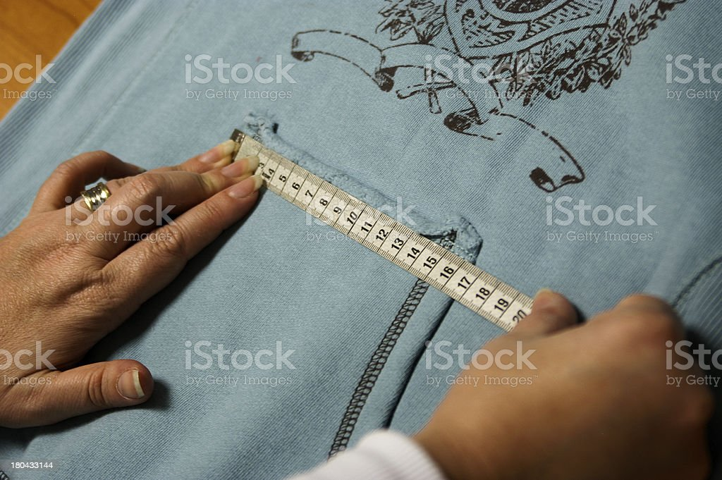 Tailor measuring royalty-free stock photo