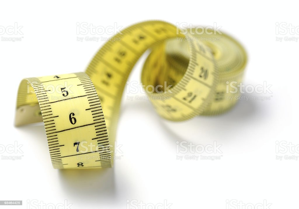 tailor measuring tape isolated royalty-free stock photo