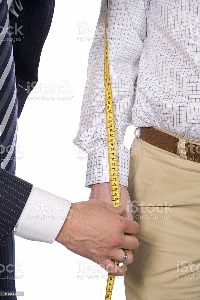 Tailor Series - Measuring stock photo