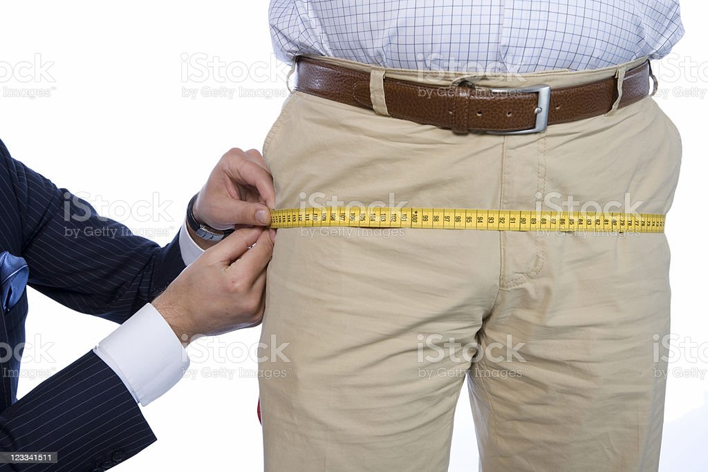 Tailor Series - Measuring royalty-free stock photo