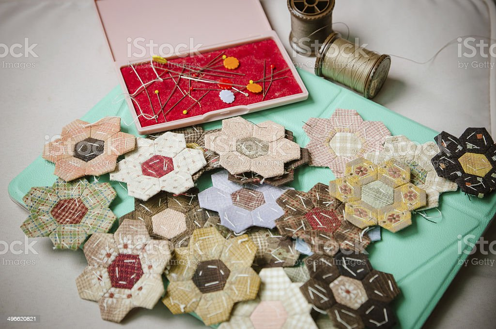 Tailoring Hobby Accessories. Sewing Craft Kit stock photo
