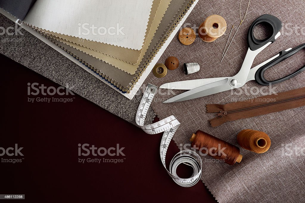 Tailoring Tools stock photo