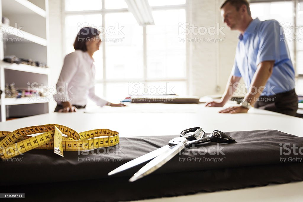 tailors at work royalty-free stock photo