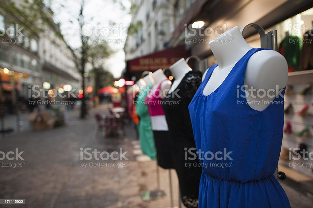 Tailor's dummies royalty-free stock photo